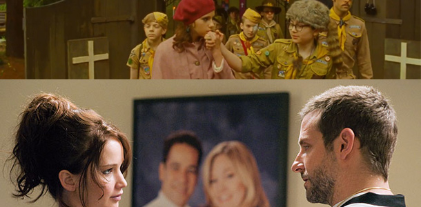 2013 Independent Spirit Award noms: Moonrise Kingdom and Silver Linings Playbook Lead Pack