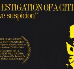 Criterion Collection: Investigation of a Citizen Above Suspicion Elio Petri Review