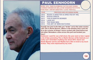 "2014 Sundance ""Trading Cards"" Series: #14. Paul Eenhoorn (Land Ho!)"