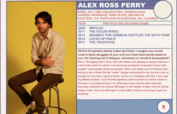 "2014 Sundance ""Trading Cards"" Series: #5. Alex Ross Perry (Listen Up Philip)"