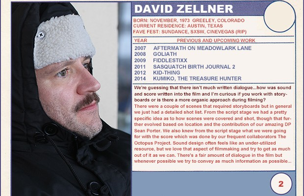 "2014 Sundance ""Trading Cards"" Series: #2. David Zellner"