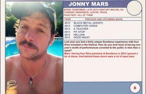 "2014 Sundance ""Trading Cards"" Series: #8. Jonny Mars (Hellion)"