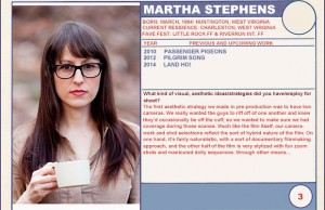 "2014 Sundance ""Trading Cards"" Series: #3. Martha Stephens (Land Ho!)"