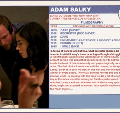 Adam Salky Sundance Trading Card I Smile Back