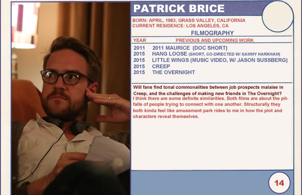 Patrick Brice (The Overnight) Sundance Trading Cards Series