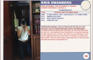 Kris Swanberg Unexpected Sundance Trading Card