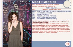 2015 Sundance Trading Card Series: #19. Megan Mercier (Unexpected)