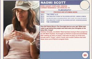 Naomi Scott The Overnight Trading Cards Series
