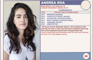 2015 Sundance Trading Card Series: #26. Andrea Roa (Unexpected)