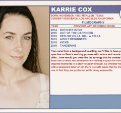 2015 Sundance Trading Card Series: #28. Karrie Cox (Tangerine)