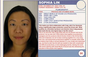 2015 Sundance Trading Card Series: #31. Sophia Lin (Z for Zachariah)