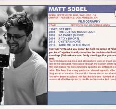 Matt Sobel Trading Cards