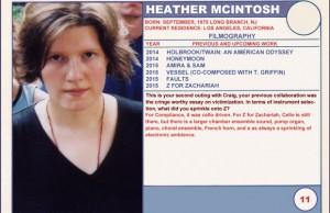 2015 Sundance Trading Card Series: #11. Heather McIntosh (Z for Zachariah)
