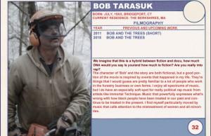 2015 Sundance Trading Card Series: #32. Bob Tarasuk (Bob and the Trees)