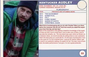 2015 Sundance Trading Card Series: #33. Kentucker Audley (Christmas, Again)
