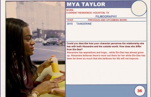 2015 Sundance Trading Card Series: #36. Mya Taylor (Tangerine)