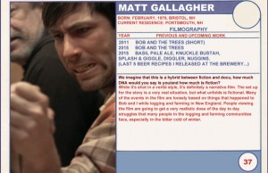 2015 Sundance Trading Card Series: #37. Matt Gallagher (Bob and the Trees)