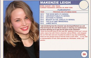 2015 Sundance Trading Card Series: #39. Makenzie Leigh (James White)