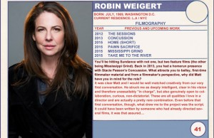 2015 Sundance Trading Card Series: #41. Robin Weigert (Take Me to the River)