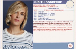 2015 Sundance Trading Card Series: #43. Judith Godrèche (The Overnight)