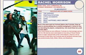 2015 Sundance Trading Card Series: #44. Rachel Morrison (Dope)