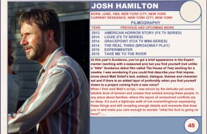 2015 Sundance Trading Card Series: #45. Josh Hamilton (Take Me to the River)