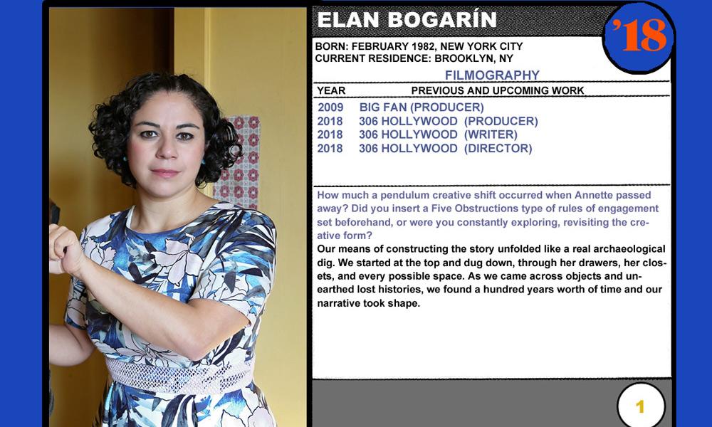 2018 NEXT Section Sundance Trading Card Series: #1. Elan Bogarín (306 Hollywood)