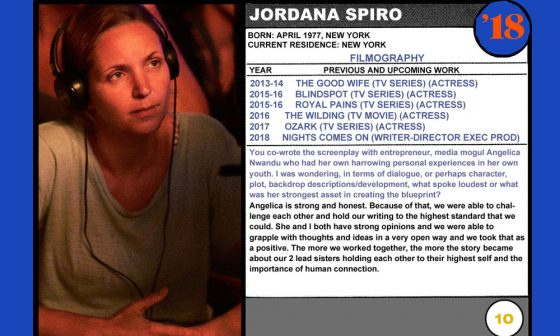 2018 NEXT Section Sundance Trading Card Series: #10. Jordana Spiro (Night Comes On)