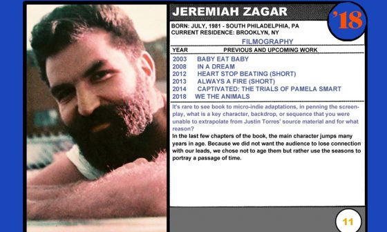 2018 NEXT Section Sundance Trading Card Series: #11. Jeremiah Zagar (We the Animals)